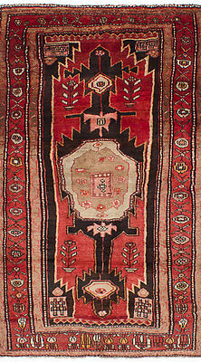 "Hand-knotted Persian Carpet 4'1"" x 7'8"" Persian Vintage Wool Rug...DISCOUNTED!"