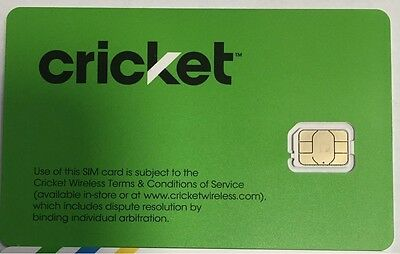 Lot of 2 NEW CRICKET 4G LTE NANO SIM CARD Good For Activation SKU: SGMN4004