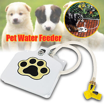 Automatic Pet Dog Doggie Cat Water Fountain Drinking Sprinkler Dispenser Outdoor