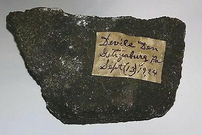 1924 Antique Rock from Devils Den Gettysburg Civil War Items