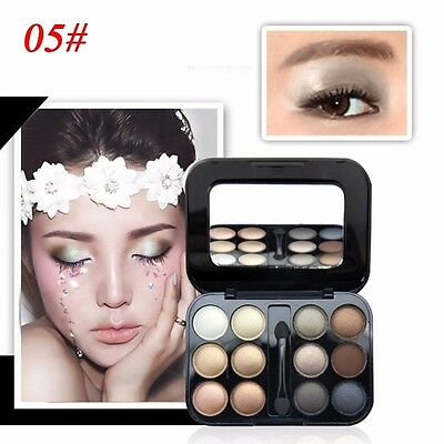 New Natural 12 Colors Smoky makeup Pen Cosmetics Shimmer Eyeshadow Palette