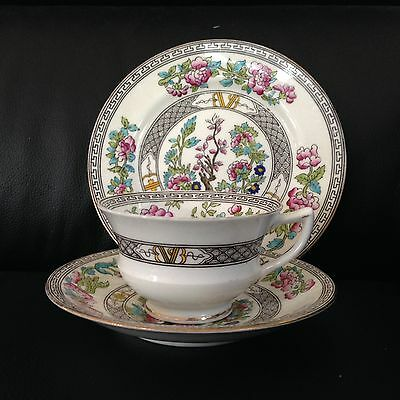 Aynsley China Antique Tea Cup Saucer Plate Trio Indian Tree