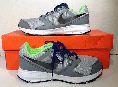 Nike Youth Size 2 Downshifter 6 Gray Black Athletic Shoes Sneakers ZF-469