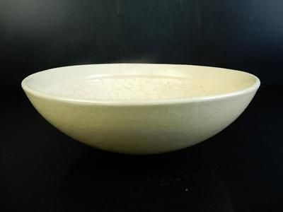 F6287: Chinese White porcelain Flower Person sculpture TEA BOWL Chawan