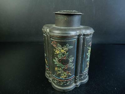 F6830: Chinese Copper Flower Pomegranate Bat sculpture TEA CADDY,auto