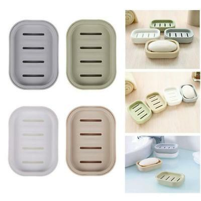 Bathroom Water Draining Soap Dish Grids Case Holder Drainer Soap Saver Box JJ