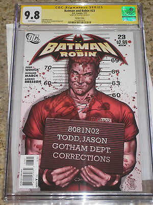 Batman and Robin #23 1:10 Variant CGC 9.8 SS J.G. Jones Jason Todd Cover