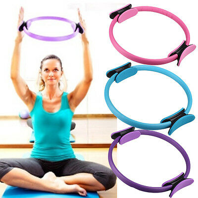 """14"""" Magic Pilates Yoga Ring Fitness Workout Weight Loss Grip Fitness Circles"""