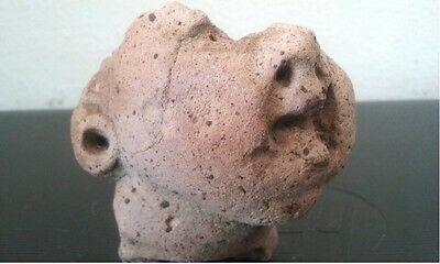 Pre-Columbian Mexico Stone Carved Human Face - Head