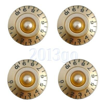4 Pcs Golden Guitar Control Speed Tone Volume Knobs for Gibson Les Paul Parts CG