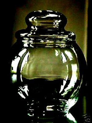 Round Clear Glass Apothecary Or Candy Jar Wedding Buffet Jar Display-Terrarium