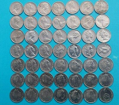 5 cent coin set 1966 - 2016, including very rare 1972  both 2016 coins