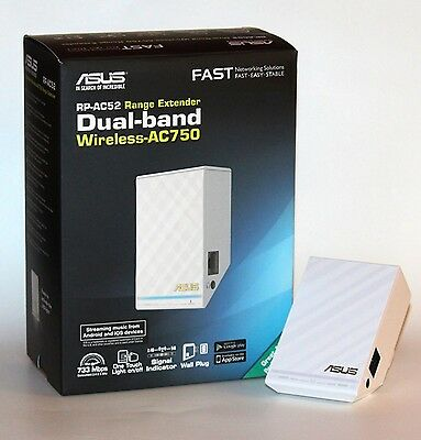 ASUS RP-AC52 Dual Band Wireless AC750 Range Extender / Repeater / Access Point