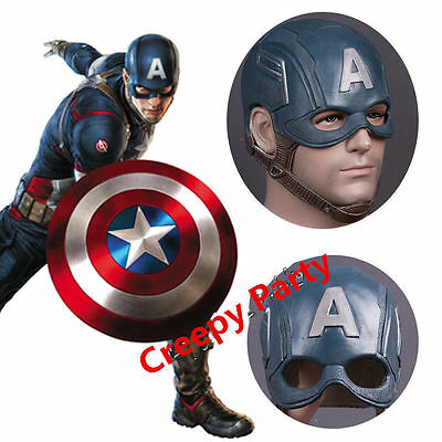 Captain America 3 Steven Rogers Latex Mask Cosplay Halloween Masquerade Props