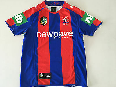 Newcastle Knights Nrl 2016 Home Jersey Mens L Large Only New