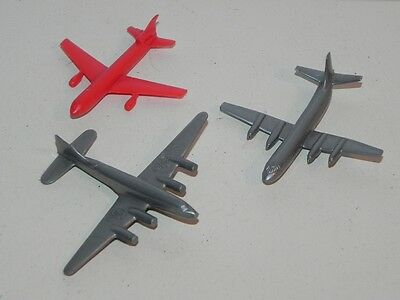 Vintage Lot 3 TCA Air Canada 2 Gray + Red Plastic Promo Toys