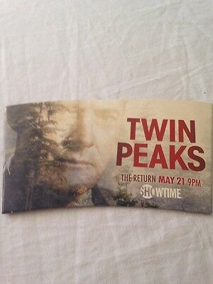 Twin Peaks Promotional Heat Activated Coffee Sleeve Agent Cooper