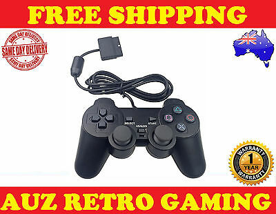 New Dual Shock Game Controller BLACK For SONY PlayStation 2 PS2 Console