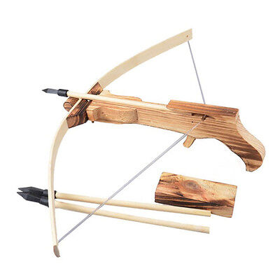 Safe Wooden Arrow Quiver Kid Child Cross Bow Toy Archery Crossbow With Carrier