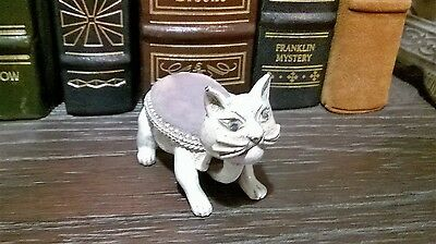 Cute Vintage Florenza Kitty Cat Bobble Head Nodder Stick Pin Cushion