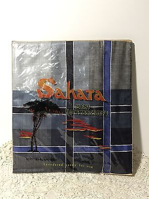 Vintage SAHARA MEN'S HANDKERCHIEF Egyptian Cotton, NILE PRODUCTS Melb In Packet