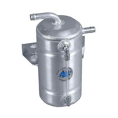 A H Fabrications Car Engine Round Oil Catch Tank - 1 Litre Capacity