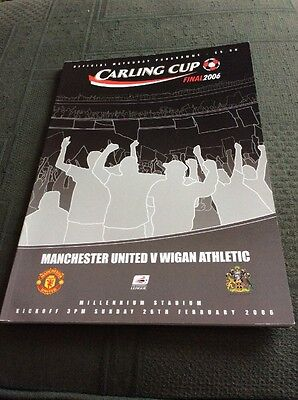Carling Cup Final Programme 2006 Manchester United v Wigan