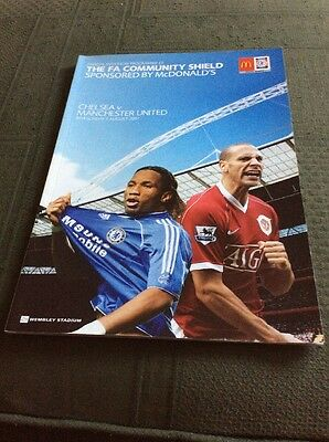 FA Community Shield Final Programme 2007 Chelsea v Manchester United