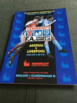 Tennent's FA Charity Shield Programme 1989 Arsenal v Liverpool