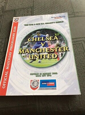 One 2 One FA Charity Shield Programme 2000 Chelsea v Manchester United