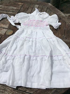 Vintage POLLY FLINDERS beautifully smocked dress  8 yrs Gorgeous.Never worn