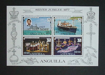 Anguilla 1977 Silver Jubilee Royal Visit MS302 MS UM MNH MS unmounted mint
