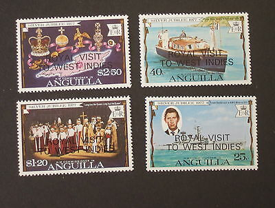 Anguilla 1977 Silver Jubilee Royal Visit  MNH UM MS boat unmounted mint