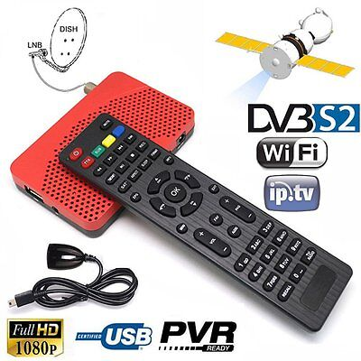 Full HD DVB-S2 IPTV IKS TV Box Top Advanced Combo Receiver USB Easy Find #P