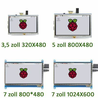 Neu Display für Raspberry Pi 3/ 2/ B+ 3.5'' bis 7''  LCD HDMI Touch Screen DE #P