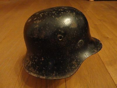 German WW2 WH helmet M1940 ,Original bell and inside,labeled EF62