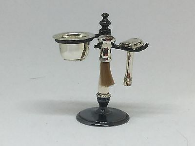 miniature silver gentlemans shaving bowl, stand and kit (post After 2 July)