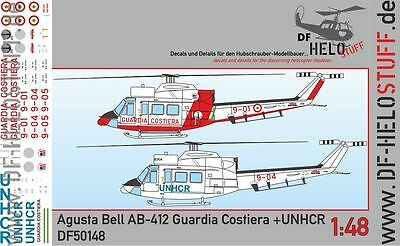 Decals Agusta Bell AB 412 Guardia Costiera Italian Coast Guard 1:48