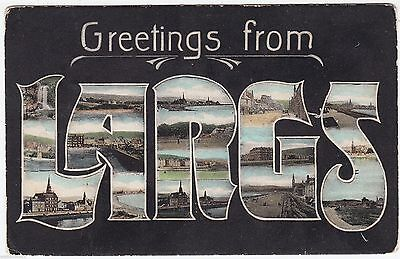 GREETINGS FROM LARGS - by J & R Simpson - Scotland - 1914 used postcard