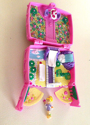 Vintage - Polly Pocket - 2000 - Emerald Garden - with Fairy and six Jewels