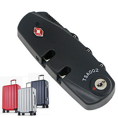 TSA Approved 3-Dial Combination Lock Luggage Travel Safety Password Lock New