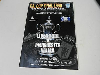 1996 F.A cup final programme Liverpool v Manchester United