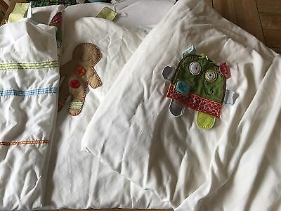 Mamas And Papas Ginger Bread Range Curtains Tab Top & Pencil Pleat Nursery Set