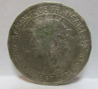1921 GUADELOUPE 50 Centimes Circulated