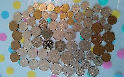 Job Lot Of Mixed Coinage, Old British ,French, others