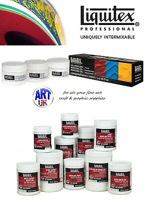 Liquitex GEL MEDIUMS professional artists acrylic colour paint effects additives