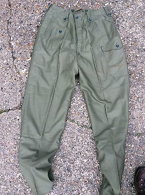 British Army combat trousers dated 1963 brand mint olive green sas 1960 pattern
