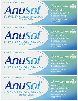 Anusol Cream (4 x 23g) Haemorrhoids / Piles Treatment (Rapidly Absorbed)