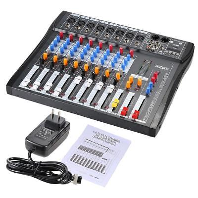 ammoon 8 Channels Digtal Mic Line Audio Mixing Mixer Console for Music DJ Stage