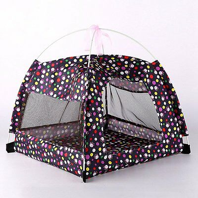 Pop Pet Tent Mesh Summer Breathable Small Dogs Portable House Cat Kennel Bed Mat